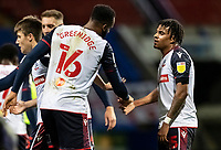 Bolton Wanderers' Jamie Mascoll (right) celebrates scoring his side's third goal with team mate Reiss Greenidge <br /> <br /> Photographer Andrew Kearns/CameraSport<br /> <br /> EFL Papa John's Trophy - Northern Section - Group C - Bolton Wanderers v Newcastle United U21 - Tuesday 17th November 2020 - University of Bolton Stadium - Bolton<br />  <br /> World Copyright © 2020 CameraSport. All rights reserved. 43 Linden Ave. Countesthorpe. Leicester. England. LE8 5PG - Tel: +44 (0) 116 277 4147 - admin@camerasport.com - www.camerasport.com