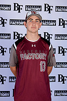 Zach Brown (13) of Cinco Ranch High School in Katy, Texas during the Baseball Factory All-America Pre-Season Tournament, powered by Under Armour, on January 12, 2018 at Sloan Park Complex in Mesa, Arizona.  (Mike Janes/Four Seam Images)