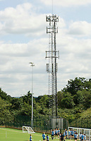 Mobile phone mast in the grounds,  State Secondary School.