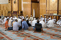 Tripoli, Libya.  Muslim Wedding Celebrations.  Awaiting the Signing of the Marriage Contract.  Male Friends and Family Members come to watch.