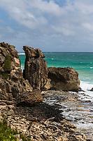 Rock formations along the Maha'ulepu Heritage Trail, Po'ipu, Kaua'i.