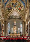 Jan. 6, 2015; Basilica Christmas decorations. (Photo by Matt Cashore/University of Notre Dame)