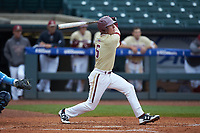Brian Dempsey (6) of the Boston College Eagles follows through on his swing against the North Carolina Tar Heels in Game Five of the 2017 ACC Baseball Championship at Louisville Slugger Field on May 25, 2017 in Louisville, Kentucky. The Tar Heels defeated the Eagles 10-0 in a game called after 7 innings by the Mercy Rule. (Brian Westerholt/Four Seam Images)