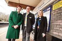 Joan Walley MP for Stoke on Trent North with Jason Cocker and Rachel Johnson both of East Midlands Trains