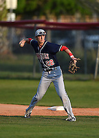 Lake Brantley Patriots first baseman Paxton Rigby (22) during practice before a game against the Lake Mary Rams on April 2, 2015 at Allen Tuttle Field in Lake Mary, Florida.  Lake Brantley defeated Lake Mary 10-5.  (Mike Janes/Four Seam Images)