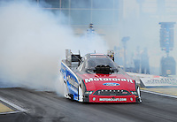 Mar. 10, 2012; Gainesville, FL, USA; NHRA funny car driver Bob Tasca III during qualifying for the Gatornationals at Auto Plus Raceway at Gainesville. Mandatory Credit: Mark J. Rebilas-