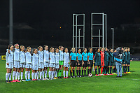 20200307  Parchal , Portugal : Team New Zealand , the referees and team Italy pictured before the female football game between the national teams of New Zealand called the Football Ferns and Italy , called the Azzurre on the second matchday of the Algarve Cup 2020 , a prestigious friendly womensoccer tournament in Portugal , on saturday 7 th March 2020 in Parchal , Portugal . PHOTO SPORTPIX.BE | STIJN AUDOOREN