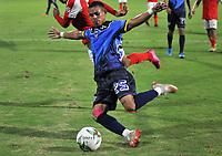BARRANQUILLA - COLOMBIA, 04-09-2021: Barranquilla F. C. y Fortaleza CEIF durante partido de la fecha 7 por el Torneo BetPlay DIMAYOR II 2021 en el estadio Romelio Martinez en la ciudad de Baranquilla. / Barranquilla F. C. and Fortaleza CEIF during a match of the 7th date for the BetPlay DIMAYOR II 2021 Tournament at the Romelio Martinez stadium in Baranquilla city. / Photo: VizzorImage / Jesus Rico / Cont.