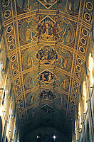Ely: Ely Cathedral--ceiling of Nave. Photo '90.