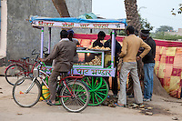 Bharatpur, Rajasthan, India.  Local Fast Food Stand.