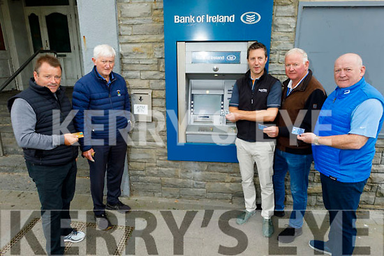 Ballybunion businesses disappointed that the Bank of Ireland branch in Ballybunion is closing from Monday September 28th. L to r: Kevin O'Callaghan, Jackie Hourigan, Cormac Cahill, Donal Liston and Ger Walsh.