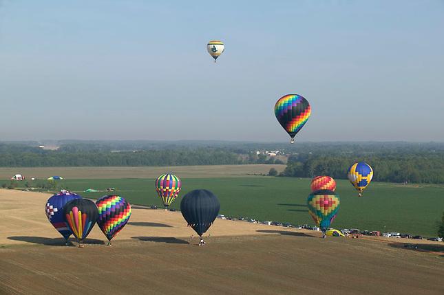 Hot-air Balloons during Alabama Jubilee Hot-Air Balloon Classic