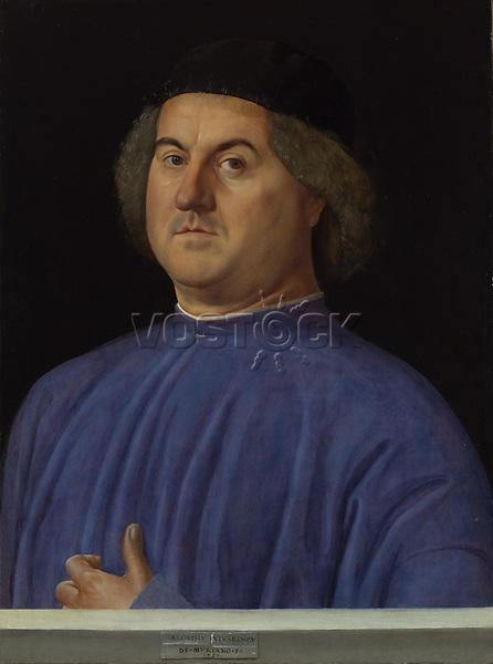 Full title: Portrait of a Man<br /> Artist: Alvise Vivarini<br /> Date made: 1497