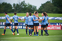 PISCATAWAY TOWNSHIP, New Jersey - Saturday, August 18, 2018: Sky Blue takes on Utah Royals FC at home at Yurcak Field during the 2018 NWSL regular season.