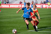 Kansas City, MO - Sunday October 01, 2017: Yael Averbuch, Rachel Daly during a regular season National Women's Soccer League (NWSL) match between FC Kansas City and the Houston Dash at Children's Mercy Victory Field.