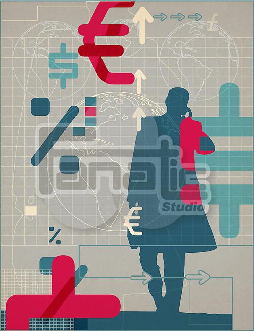 Illustrative representation stock market