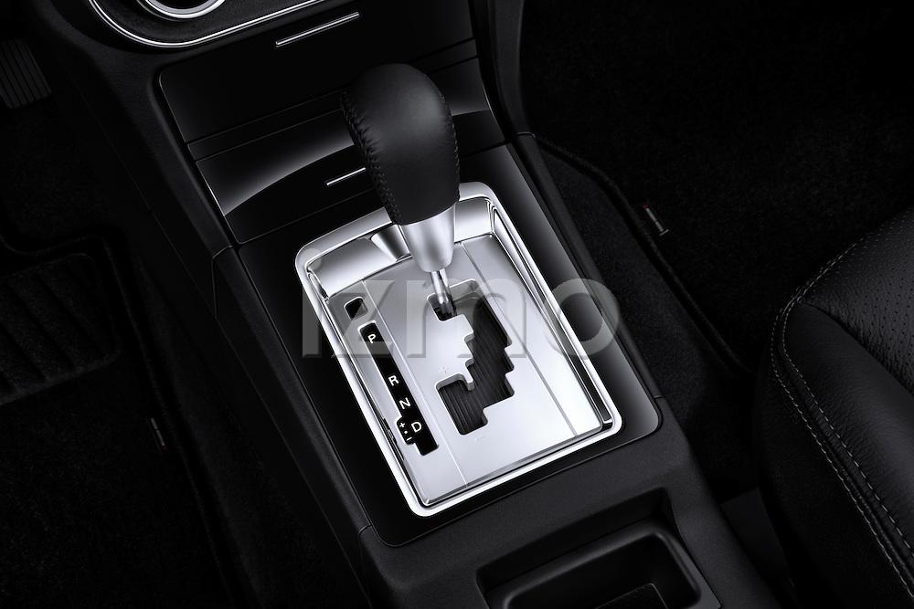 Gear shift detail view of a 2012 Mitsubishi Lancer Sportback GT