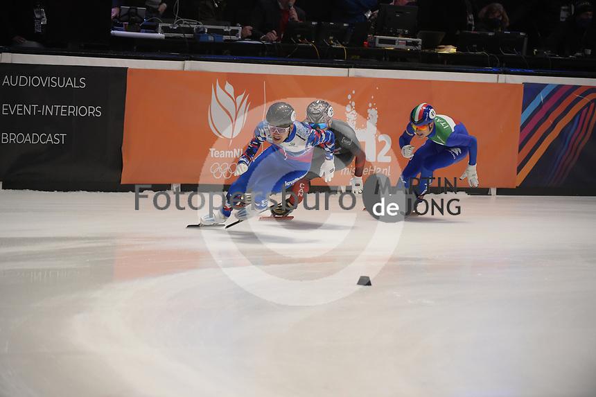 SPEEDSKATING: DORDRECHT: 06-03-2021, ISU World Short Track Speedskating Championships, SF 5000m Men, (RSU), (ITA), (CAN), ©photo Martin de Jong