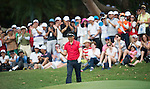Yong-eun Yang of South Korea plays with his club during Hong Kong Open golf tournament at the Fanling golf course on 25 October 2015 in Hong Kong, China. Photo by Aitor Alcade / Power Sport Images