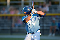 Brandon Dulin (31) of the Burlington Royals at bat against the Danville Braves at Burlington Athletic Park on August 13, 2015 in Burlington, North Carolina.  The Braves defeated the Royals 6-3. (Brian Westerholt/Four Seam Images)