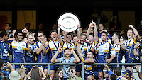 The Brumbies celebrate winning the Cup competition of the World Club 7s at Twickenham on Sunday 18th August 2013 (Photo by Rob Munro)