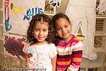 Preschool Headstart 3-5 year olds portrait of two girls friends closeup horizontal