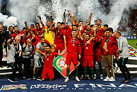 Portugal lift the UEFA Nations League trophy after winning the UEFA Nations League Final match between Portugal and Netherlands at Estadio do Dragao on June 9th 2019 in Porto, Portugal. (Photo by Daniel Chesterton/phcimages.com)<br /> Finale <br /> Portogallo Olanda<br /> Photo PHC/Insidefoto <br /> ITALY ONLY