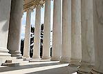 The Thomas Jefferson Memorial pillars, Jefferson memorial, pillars, Presidential Memorial in Washington DC, Thomas Jefferson, American founding Father, Third President of the United States, neoclassical, Designed by John Russell Pope, Philadelphia, done, portico, Tidal, Basin, Potomac River, West Potomac Park, Washington monument, National Mall and Memorial Parks, List of America's Favorite Architecture, American Institute of Architects, U.S. National Register of Historic Places, U.S. National Memorial, Washington D.C., Ron Bennett Photography, Stock Photography, Fine Art Photography, Fine Art Photography by Ron Bennett, Fine Art, Fine Art photo, Art Photography,