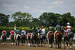 June 7, 2014: Post parade for the Grade II Brooklyn Invitational at Belmont Park in Elmont, New York. Zoe Metz/ESW/CSM