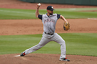 Colorado Springs Sky Sox pitcher Rob Wooten (35) delivers a pitch during a Pacific Coast League game against the Iowa Cubs on May 11th, 2015 at Principal Park in Des Moines, Iowa.  Colorado Springs defeated Iowa 13-7.  (Brad Krause/Four Seam Images)
