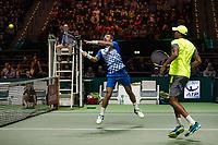 Rotterdam, The Netherlands, 17 Februari, 2018, ABNAMRO World Tennis Tournament, Ahoy, Tennis, Pierre-Hugues Herbert (FRA) / Nicolas Mahut (FRA), Ivan Dodig (CRO) / Rajeev Ram (USA)<br /> <br /> Photo: www.tennisimages.com
