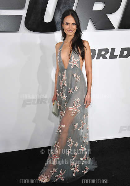 """Jordana Brewster at the world premiere of her movie """"Furious 7"""" at the TCL Chinese Theatre, Hollywood.<br /> April 1, 2015  Los Angeles, CA<br /> Picture: Paul Smith / Featureflash"""