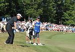 1 September 2008: Mike Weir hits a chip shot at the Deutsche Bank Golf Championship in Norton, Massachusetts.