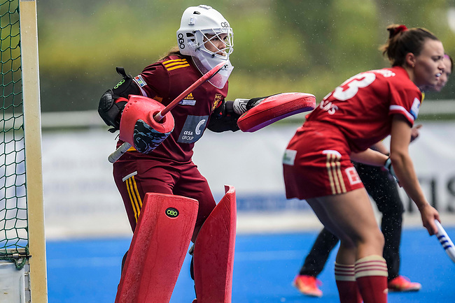 Krefeld, Germany, August 28: During the women semi-final fieldhockey match between Duesseldorfer HC and Rot Weiss Koeln on August 28, 2021 at the 1. Liga-Cup at Crefelder HTC in Krefeld, Germany. (Photo by Dirk Markgraf / www.265-images.com) *** Local caption ***