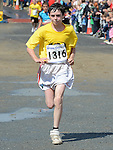 Evan McGrane was the first juvenile home in the Integral Clogherhead 10K. Photo:Colin Bell/pressphotos.ie