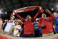 Harrison, NJ - Thursday Sept. 15, 2016: New York Red Bulls fans before a CONCACAF Champions League match between the New York Red Bulls and Alianza FC at Red Bull Arena.