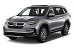 2022 Honda Pilot Touring-2WD 5 Door suv Angular Front automotive stock photos of front three quarter view