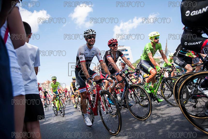 Castellon, SPAIN - SEPTEMBER 7: Trek biker during LA Vuelta 2016 on September 7, 2016 in Castellon, Spain