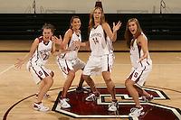 01 October 2007: (L-R): Hannah Donaghe, Ashley Cimino, Kayla Pedersen, and Jeanette Pohlen.