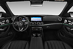 Stock photo of straight dashboard view of a 2018 Mercedes Benz E Class Base 4 Door Sedan