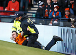 Pitch invader is restrained by security