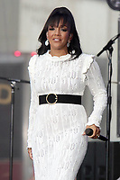 NEW YORK, NY- September 24: Mickey Guyton performs on NBC's Today Show Concert Series on Times Square in New York City on September 24, 2021. Credit: RW/MediaPunch