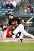 June 3, 2009:  Second Baseman Steve Tolleson of the Rochester Red Wings at bat during a game at Frontier Field in Rochester, NY.  The Rochester Red Wings are the International League Triple-A affiliate of the Minnesota Twins.  Photo by:  Mike Janes/Four Seam Images