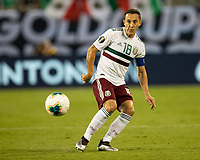 CHARLOTTE, NC - JUNE 23: Andres Guardado #18 during a game between Mexico and Martinique at Bank of America Stadium on June 23, 2019 in Charlotte, North Carolina.