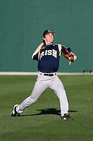 February 26, 2010:  Outfielder Brayden Ashdown of the Notre Dame Fighting Irish during the Big East/Big 10 Challenge at Jack Russell Stadium in Clearwater, FL.  Photo By Mike Janes/Four Seam Images