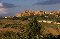 Europe/Italie/Ombrie/Orvieto : La ville sur son plateau de tuf volcanique