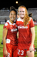 Boyds, MD - Saturday, September 23, 2017: Caprice Dydasco, Tori Huster during a regular season National Women's Soccer League (NWSL) match between the Washington Spirit and the Boston Breakers at Maureen Hendricks Field, Maryland SoccerPlex.
