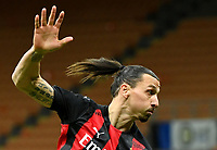 Football Soccer: Tim Cup Quarter Finals InternazionaleMIlan vs Milan, Giuseppe Meazza Stadium (San Siro) Milan, on January 26, 2021.<br /> Milan's Zlatan Ibrahimovic in action during the Italian Tim Cup football match between Inter  and Milan at the Giuseppe Meazza stadium in Milan, January 26, 2021.<br /> UPDATE IMAGES PRESS/Isabella Bonotto