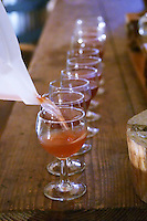 Freshly pressed Gamay juice. Domaine Melinon, Morgon, Beaujolais, France