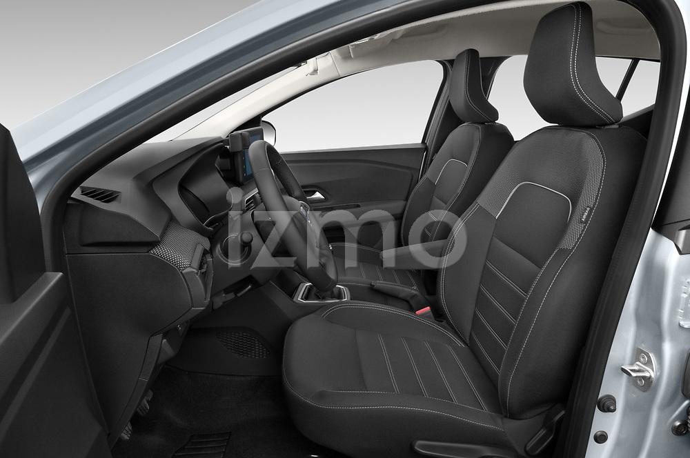 Front seat view of a 2021 Dacia Sandero Comfort 5 Door Hatchback